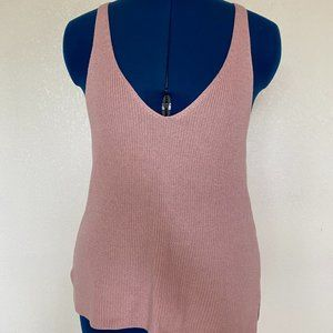 Rosy Pink Sweater Tank